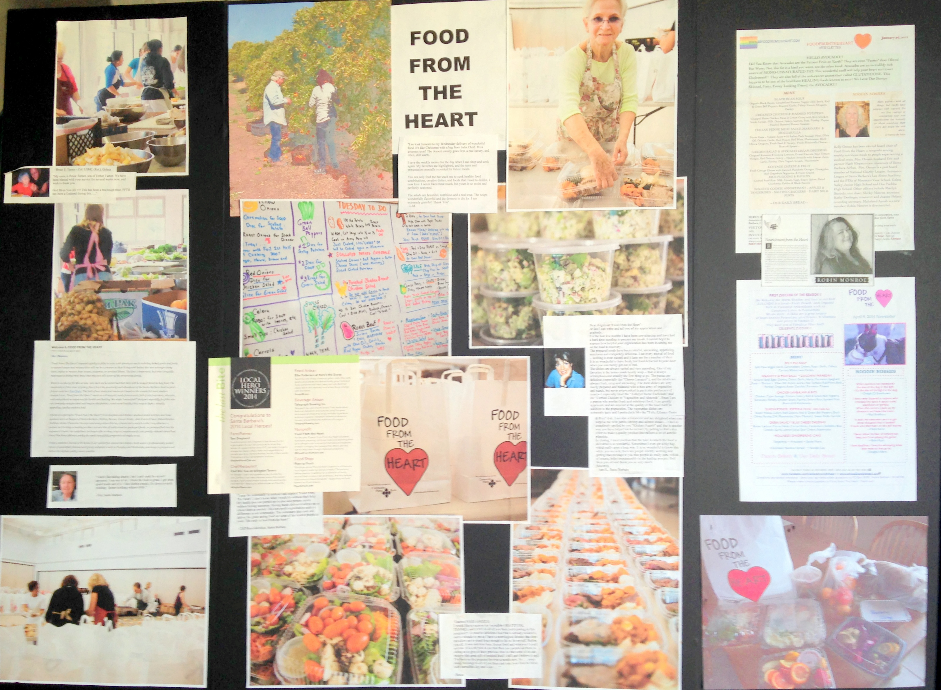 food from heart board