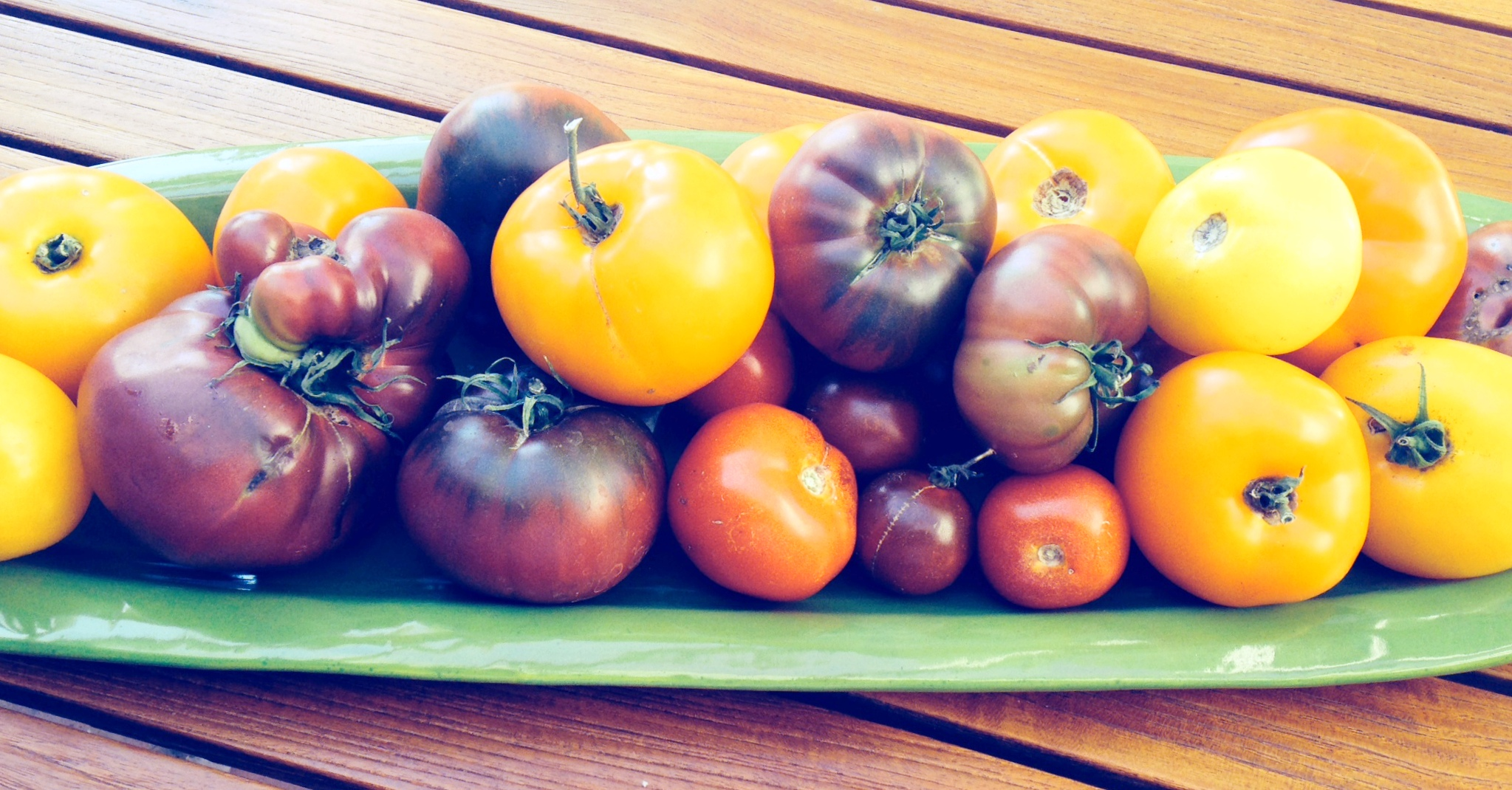 tomatoesongreenplate