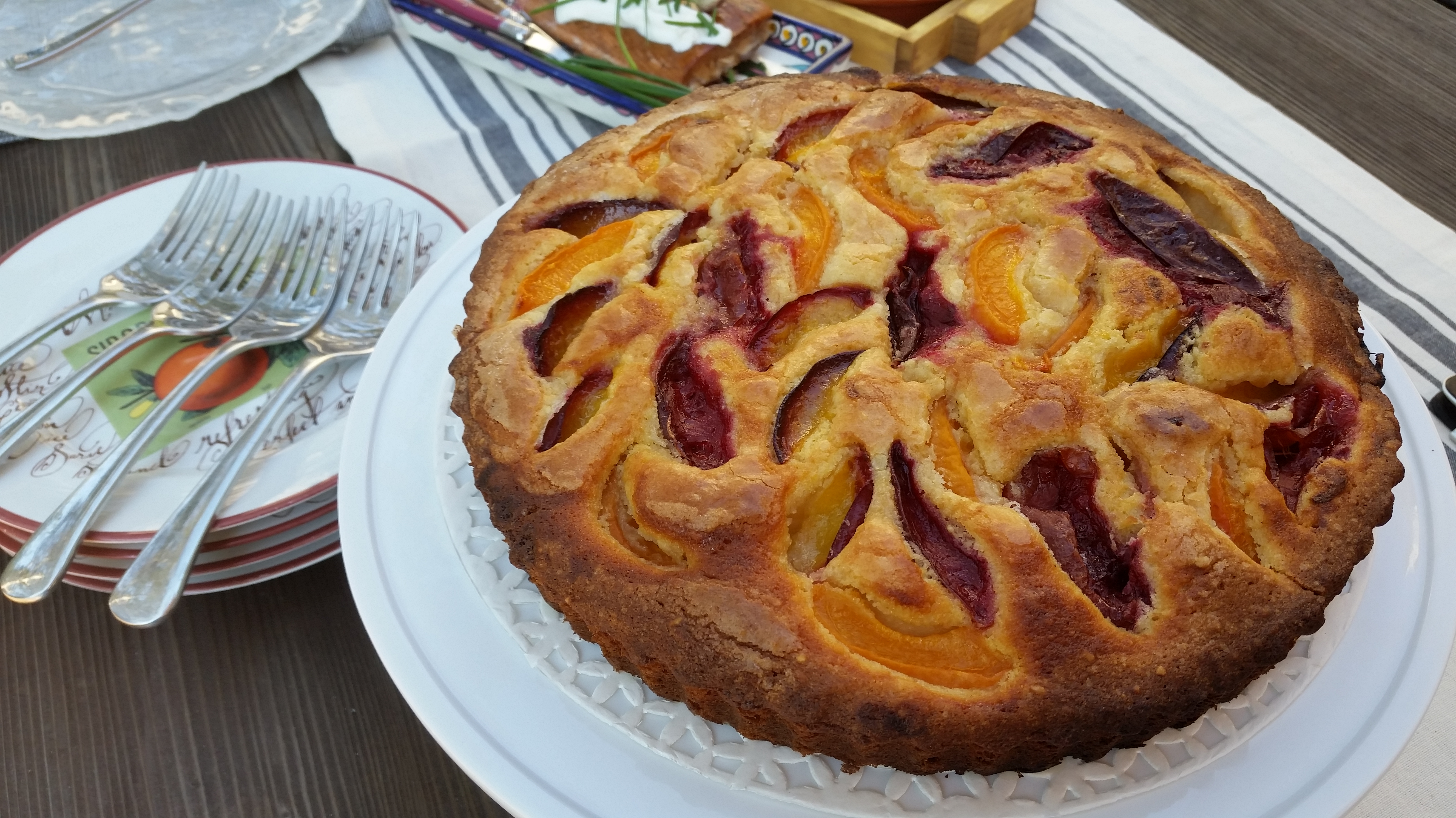 Plum and Apricot Tart